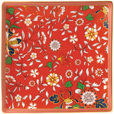 Wedgwood Wonderlust Square Tray - Crimson Jewel