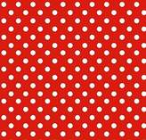 686 SheetWorld Fitted Basket Sheet - Primary Polka Dots Red Woven - Made In USA - 13 inches x 27 inches (33 cm x cm)