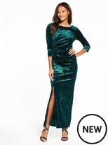 Wallis Velvet Maxi Dress