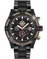 Quantum Hunter Men's Quartz Watch with Chronograph Quartz Stainless Steel Coated hng485.650