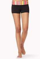 Forever 21 Tribal Print Skinny Workout Shorts