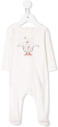 Stella McCartney singing Christmas Pudding embroidered pajamas