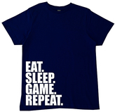 Micro Me Navy 'Eat. Sleep. Game. Repeat.' Crewneck Tee - Toddler & Boys