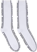 Opening Ceremony White Jacquard Logo Socks