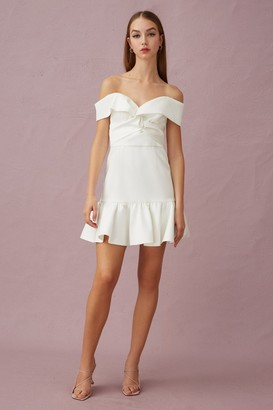 Keepsake YOUR TOUCH MINI DRESS Porcelain