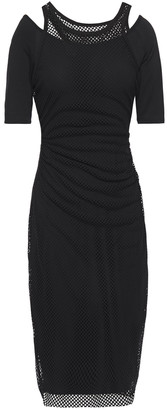 Bailey 44 Layered Mesh And Jersey Dress