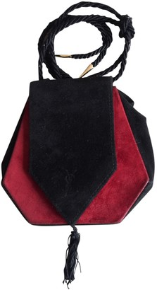 Saint Laurent Opium Black Suede Handbags