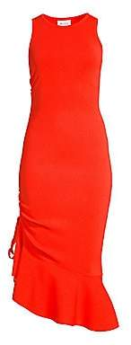 Milly Women's Asymmetrical Flounce Hem Dress