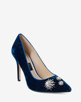 White House Black Market Olivia Velvet Pumps