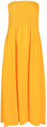 Nina Ricci pleated front maxi dress