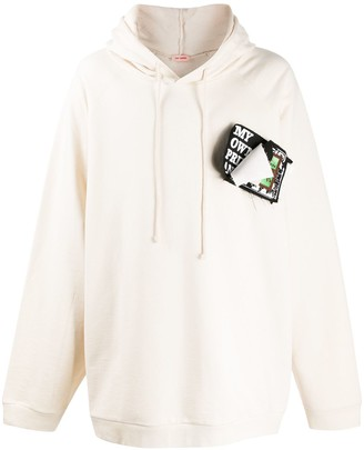 Raf Simons Pinned Patches Oversized Hoodie