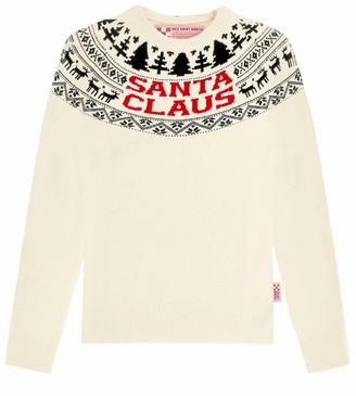 MC2 Saint Barth Santa Claus Reindeer White Womans Sweater