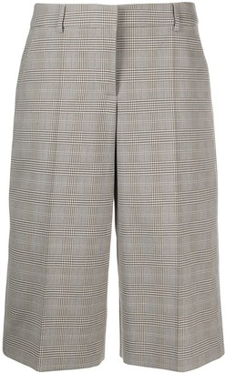 Boutique Moschino Plaid Check Cropped Trousers