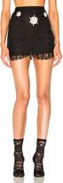 Francesco Scognamiglio Embellished Lace Trim Skirt