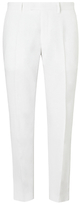 John Lewis Linen Regular Fit Suit Trousers, White