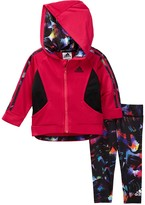 adidas Hooded Tricot Jacket & Legging Set - 2-Piece Set (Baby Girls)