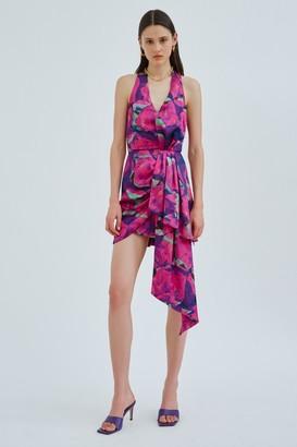 C/Meo FRAME DRESS Purple Geo Floral