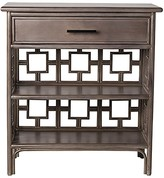 The Well Appointed House Rattan Nightstand with Drawer and Bookshelf-Available in a Variety of Finishes