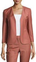 Theory Lindrayia B Continuous Open-Front 3/4-Sleeve Blazer