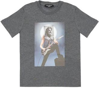 Neil Barrett Hybrid Print Cotton Jersey T-shirt