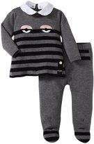 Fendi Striped Shirt and Pant Set (Baby) - Gray-18 Months