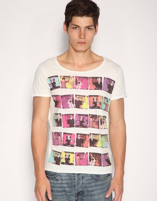 Asos Design ASOS Photo Print Wide Scoop Neck T-Shirt