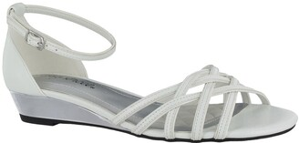 Easy Street Shoes Tarrah Ankle Strap Wedge Sandal - Multiple Widths Available