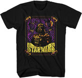 Star Wars STARWARS Black Light Darth Vader Graphic Tee