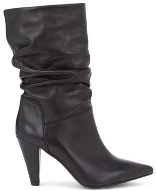 Mint Velvet Harley Black Leather Boots
