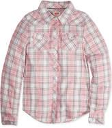 Levi's Buffalo Plaid Long-Sleeve Shirt, Big Girls
