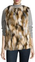 Love Token Faux-Fur Vest, Multi