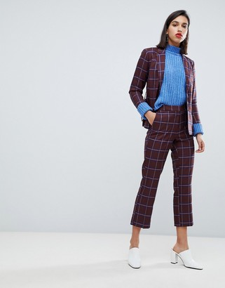 Y.A.S Check Crop Trousers Co Ord
