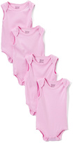 Sweet & Soft Pink Sleeveless Bodysuit Set - Infant