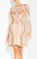 Herve Leger Anyia Mosaic Lacing Stud Detail Dress