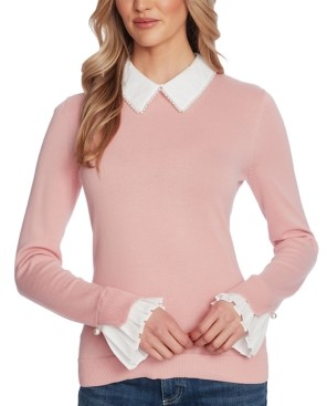 CeCe Peter-Pan Collar Pullover Sweater