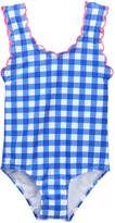 Hula Star Summer Skies Gingham One-Piece Swimsuit (Toddler & Little Girls)