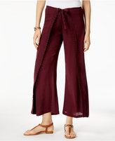 Style&Co. Style & Co Style & Co Petite Wide-Leg Wrap Pants, Created for Macy's