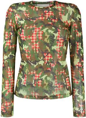 Molly Goddard camouflage-print crew neck Tee