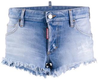 DSQUARED2 frayed denim shorts