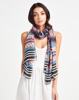 Alice Hannah Tribal Stripe Woven Scarf