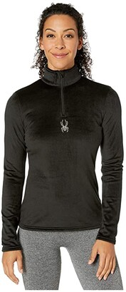 Spyder Shimmer Bug Zip T-Neck (Raisin) Women's Sweater