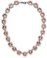 Bottega Veneta Oxidized Silver Swarovski Crystal Necklace - one size