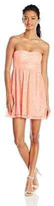 Derek Heart Junior's Libby's Sweetheart Lace Skater Dress