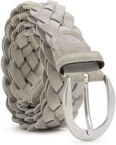 Dalgado Braided Suede Belt Grey Francesca