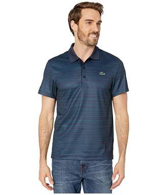 Lacoste Short Sleeve All Over Print Striped Polo