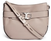 Tory Burch 'Gemini' belted pebbled leather hobo bag