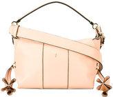 Serapian - logo pin satchel - women - Leather/Goat Suede - One Size