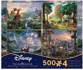 Disney Dreams 2 Thomas Kinkade 500-piece Jigsaw Puzzle 4-piece Set
