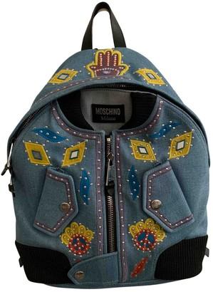 Moschino Blue Denim - Jeans Backpacks