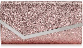 Jimmy Choo EMMIE Candyfloss Galactica Glitter Fabric Clutch Bag